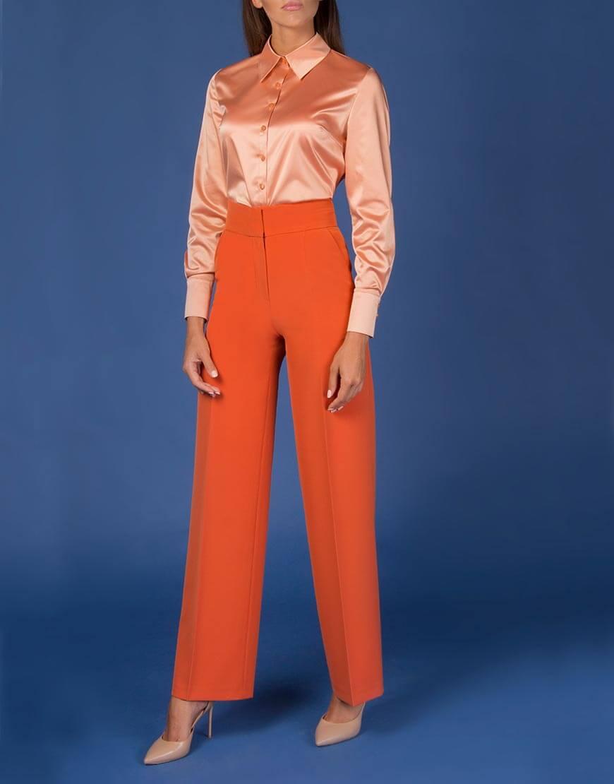 Блуза прямого кроя с пуговицами Swarovski