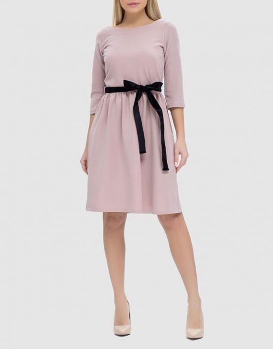 Платье с пуговицами на спинке и съемным поясом MRND_М40-1, фото 3 - в интеренет магазине KAPSULA