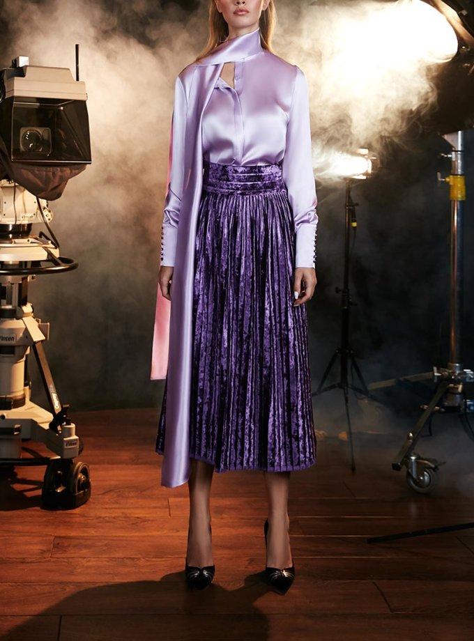 Шелковая Блуза с двойным бантом SOL_SOW2018B06, фото 1 - в интернет магазине KAPSULA