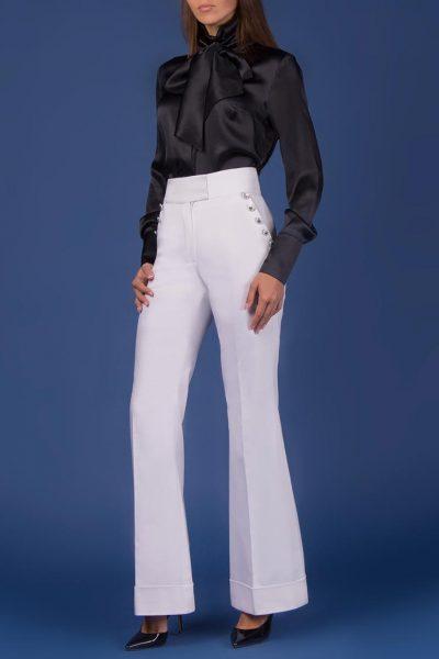 Шелковая Блуза с двойным бантом SOL_SOW2018B08, фото 5 - в интеренет магазине KAPSULA