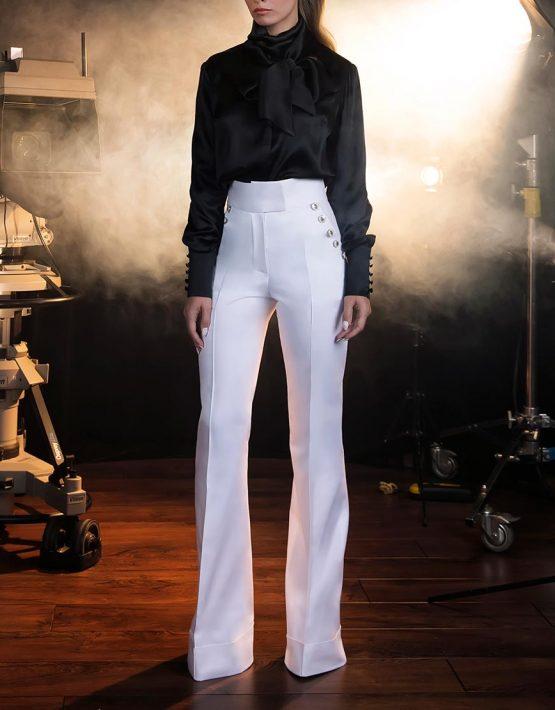 Шелковая Блуза с двойным бантом SOL_SOW2018B08, фото 3 - в интеренет магазине KAPSULA