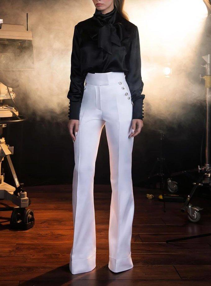 Шелковая Блуза с двойным бантом SOL_SOW2018B08, фото 1 - в интернет магазине KAPSULA