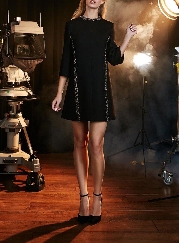 Платье-трапеция с жемчужным рельефом SOL_SOW2018D10_outlet, фото 1 - в интеренет магазине KAPSULA