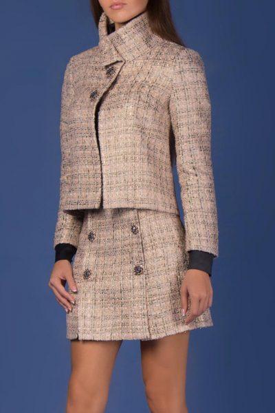 Твидовая юбка из шерсти с декором SOL_ SOW2018S08, фото 1 - в интеренет магазине KAPSULA