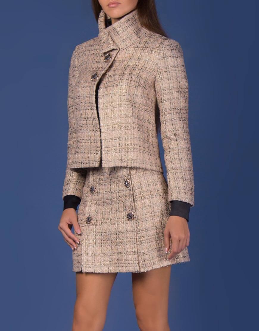 Купить Твидовая юбка из шерсти с декором