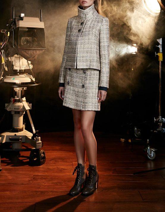 Твидовая юбка из шерсти с декором SOL_ SOW2018S08, фото 3 - в интеренет магазине KAPSULA