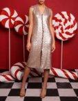 Платье пайетки с рукавами гофре VONA-FW-18-19-61, фото 7 - в интеренет магазине KAPSULA