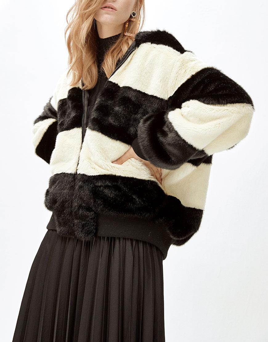 Пальто из искусственного меха ANNIE