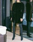 Темно-синий костюм из блестящей ткани IRRO_IR_NY_ST_001, фото 2 - в интеренет магазине KAPSULA