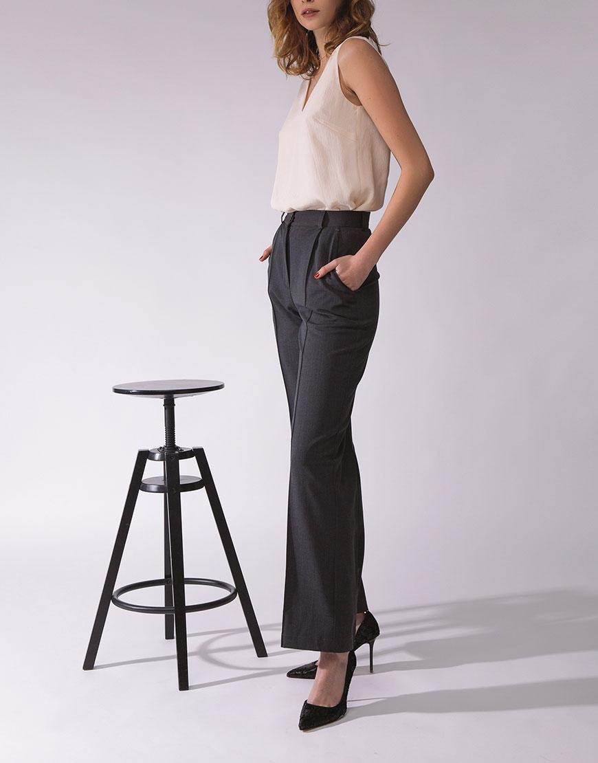 Купить Широкие брюки с высокой талией