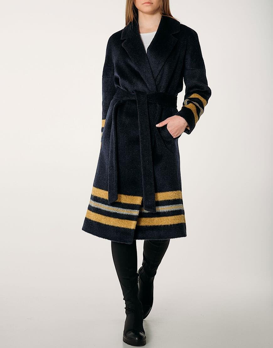 Пальто из кашемира прямого кроя