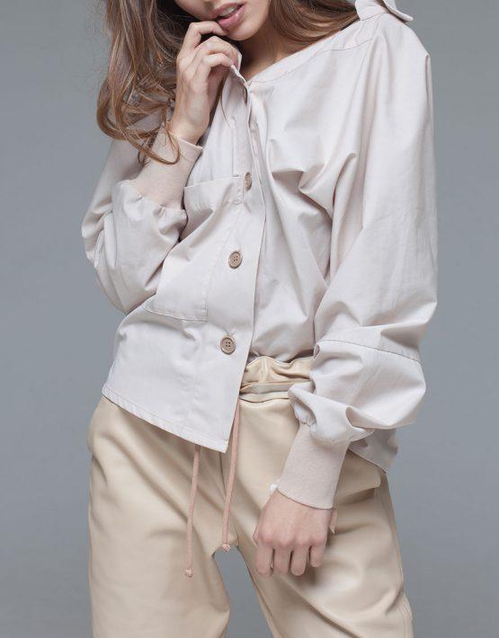 хлопковая рубаха асимметричного кроя xm_fw111, фото 3 - в интеренет магазине KAPSULA