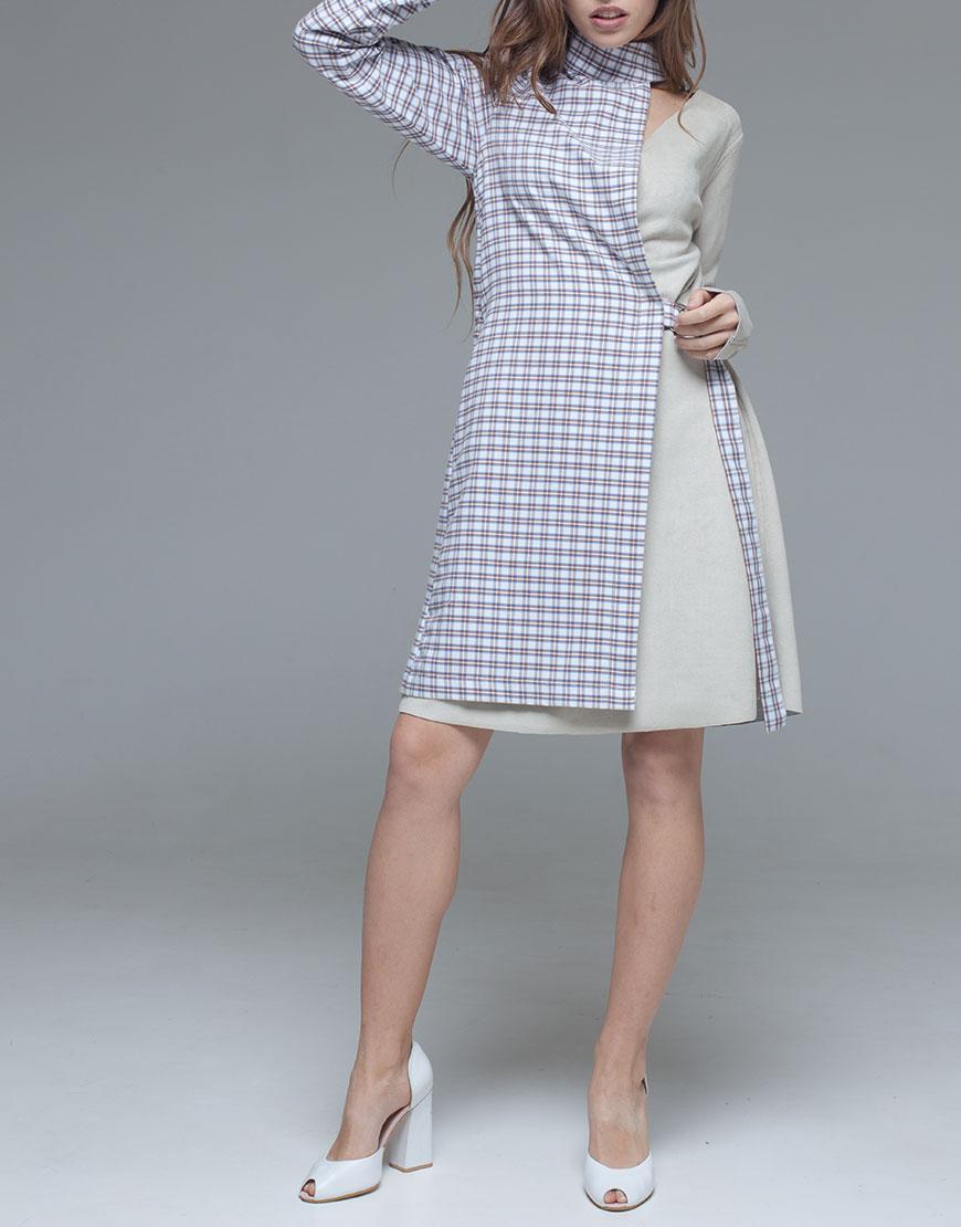 фактурное платье прямого кроя