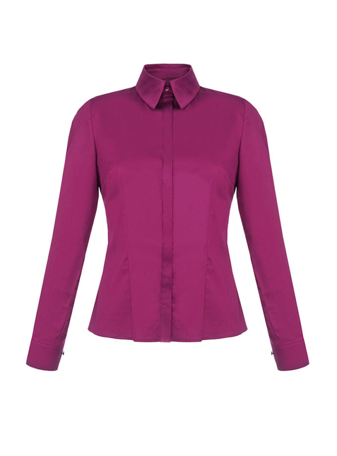 Рубашка из хлопка приталенная SOL_ SOW2018SH09_1_outlet, фото 1 - в интернет магазине KAPSULA