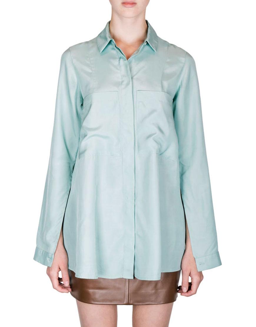 Купить Рубашка с разрезами на рукавах