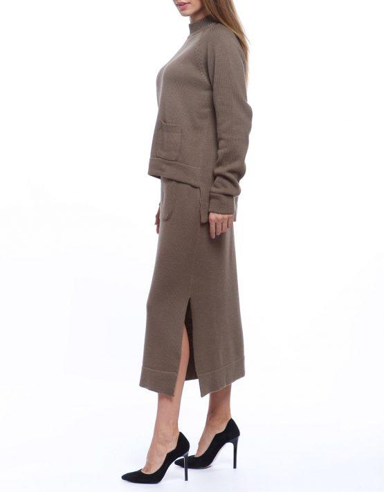 Костюм из свитера и юбки из шерсти HMCRG_Suit_skswt_4, фото 3 - в интеренет магазине KAPSULA