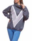 Свободный свитер из мягкой шерсти HMCRG_swt_18-1, фото 2 - в интеренет магазине KAPSULA