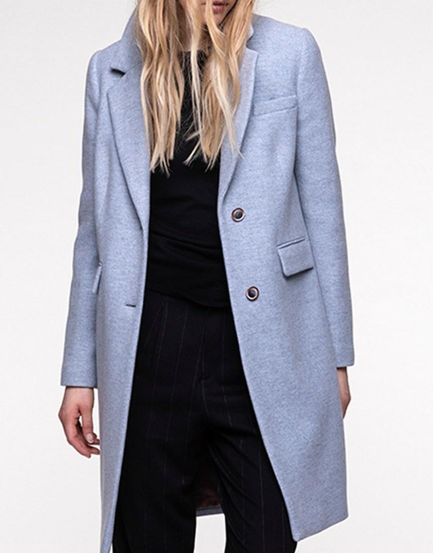 Пальто пиджачного типа из шерсти