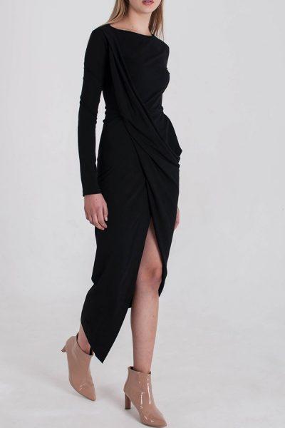Трикотажное Платье с драпировкой BEAVR_BA_W19_55, фото 1 - в интеренет магазине KAPSULA