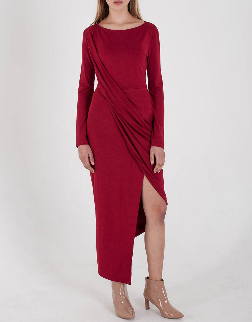 Купить Трикотажное Платье с драпировкой