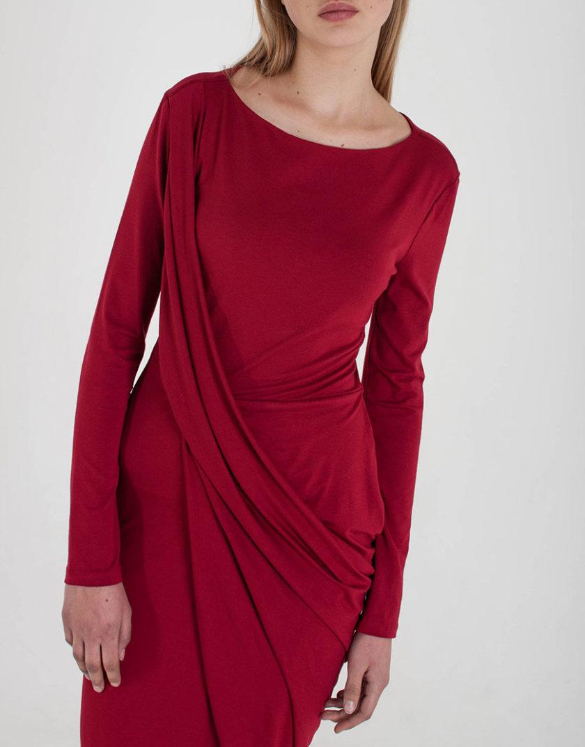 Трикотажное Платье с драпировкой BEAVR_BA_W19_56, фото 1 - в интернет магазине KAPSULA