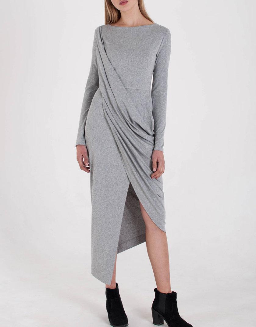 Трикотажное Платье с драпировкой BEAVR_BA_W19_57, фото 1 - в интернет магазине KAPSULA