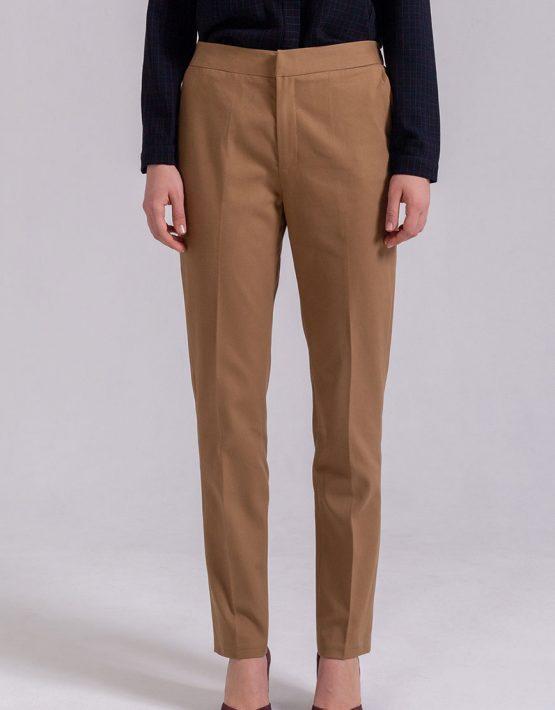 Зауженные брюки из хлопка PPMT_PM-36_beige, фото 6 - в интеренет магазине KAPSULA