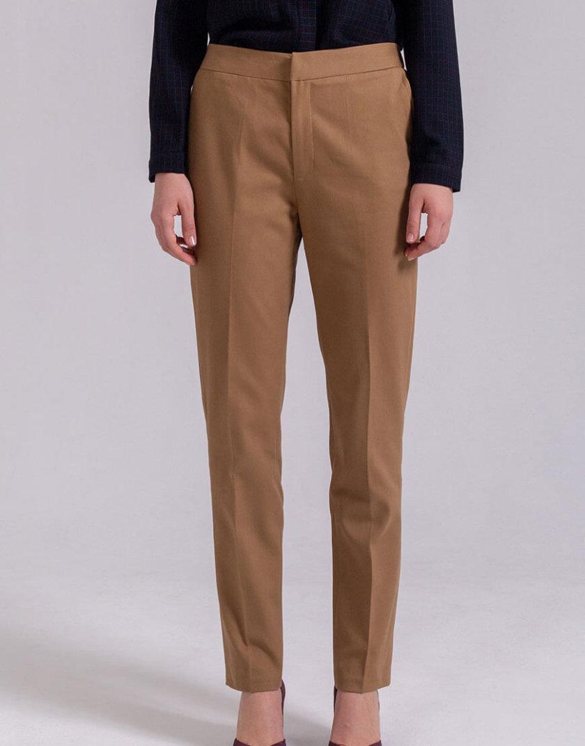 Зауженные брюки из хлопка PPMT_PM-36_beige, фото 1 - в интернет магазине KAPSULA