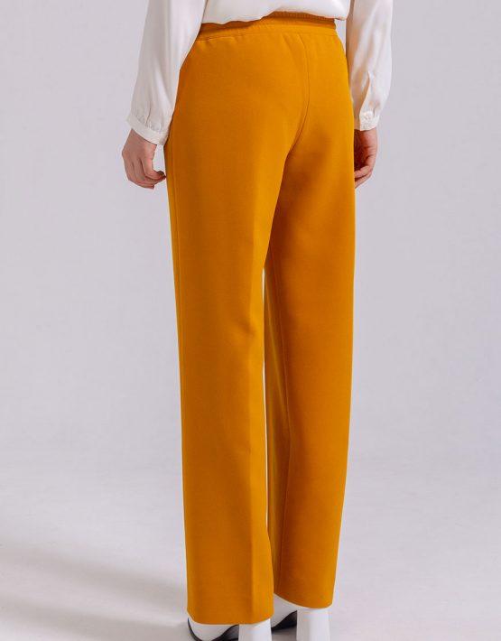 Прямые брюки на резинке PPMT_PM-44_yellow, фото 2 - в интеренет магазине KAPSULA