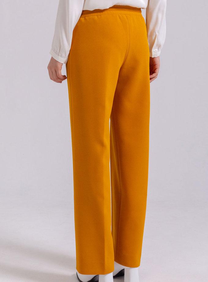 Прямые брюки на резинке PPMT_PM-44_yellow, фото 1 - в интернет магазине KAPSULA