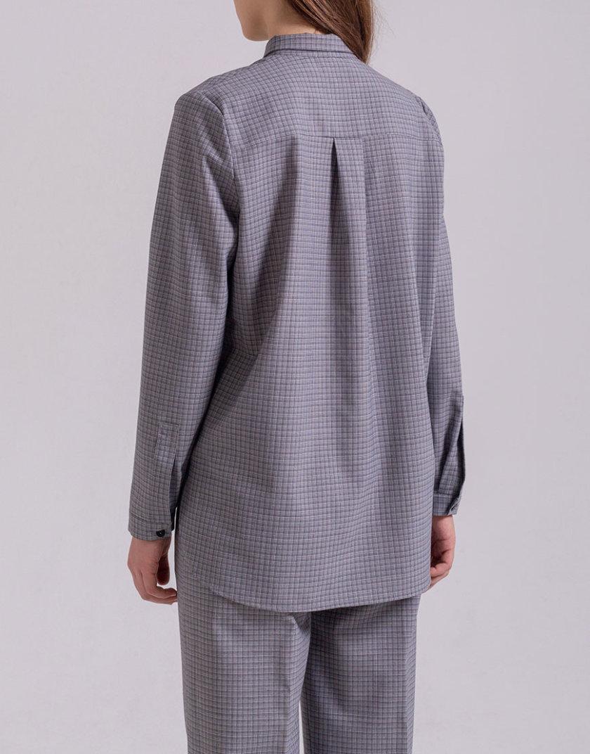 Рубашка прямого кроя PPMT_PM-47_cage, фото 1 - в интеренет магазине KAPSULA