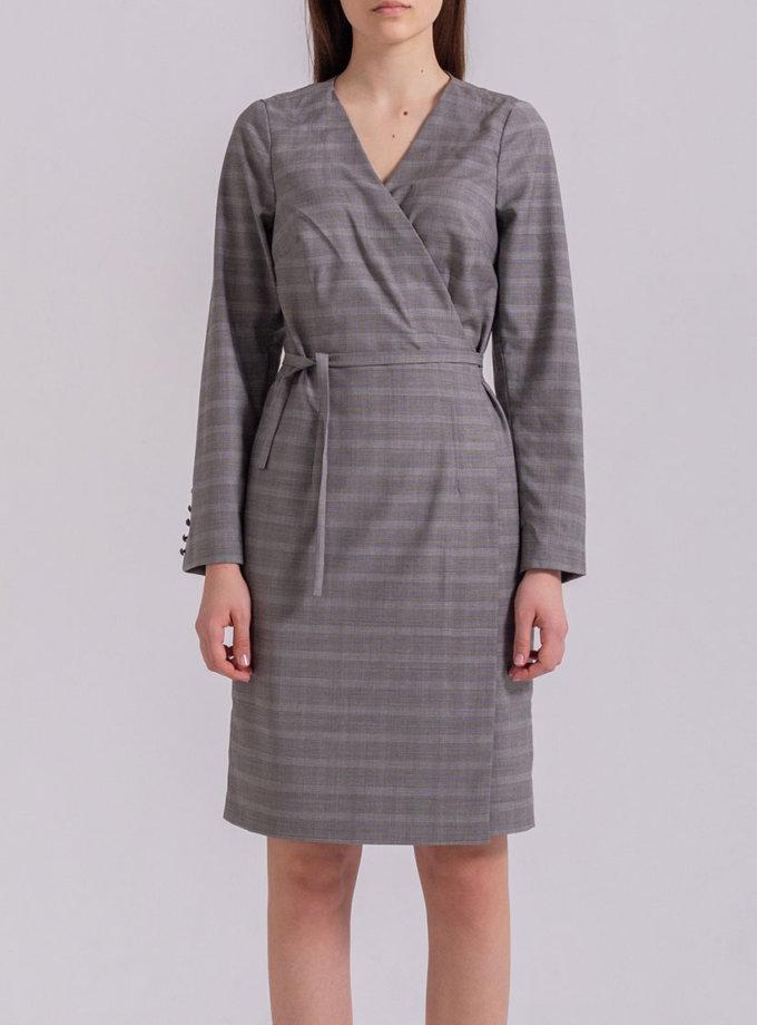 Платье мини на запах PPMT_PM-48_cage, фото 1 - в интернет магазине KAPSULA
