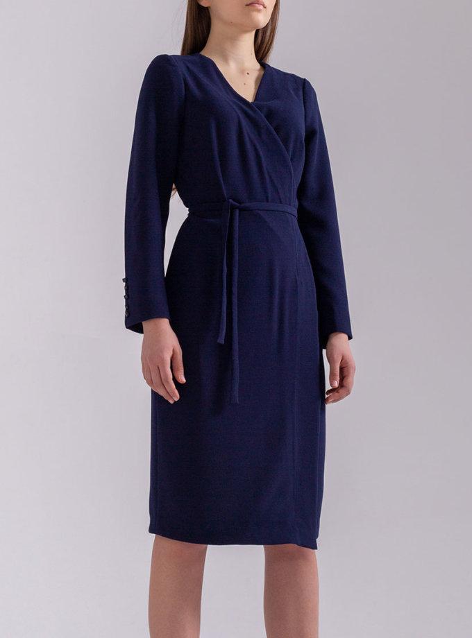Платье мини на запах PPMT_PM-48_navy, фото 1 - в интернет магазине KAPSULA