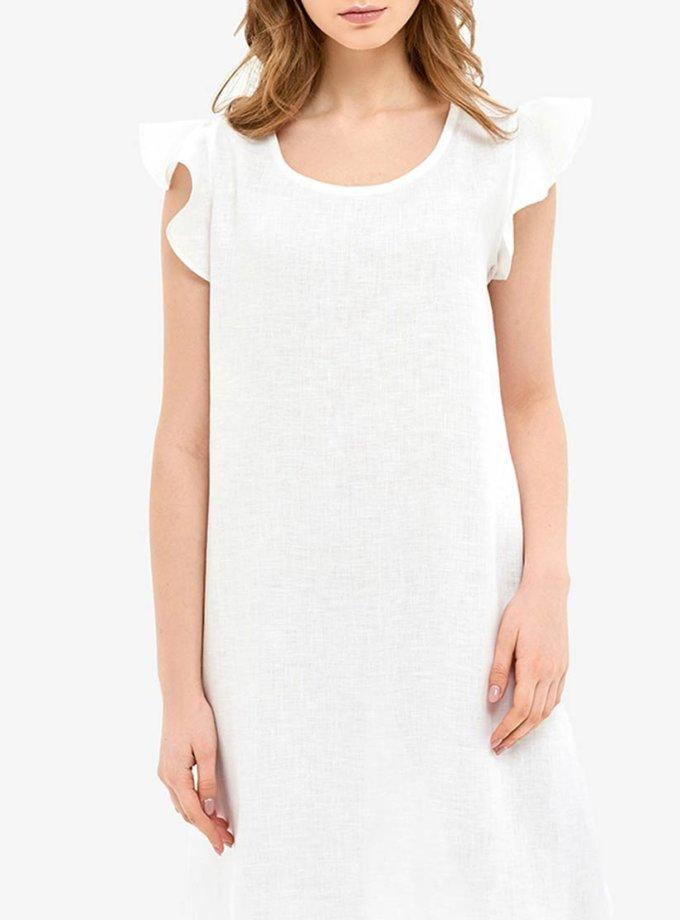 Льняное платье для дома с воланами MRND_Н1-1, фото 1 - в интеренет магазине KAPSULA