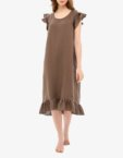 Льняное платье для дома MRND_Н2-2, фото 6 - в интеренет магазине KAPSULA