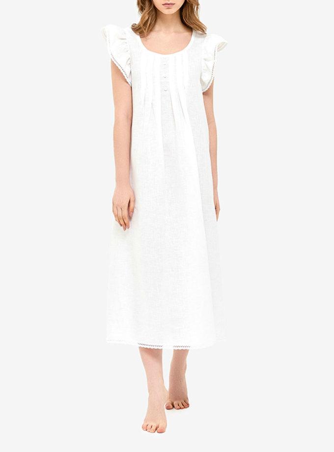 Льняное платье для дома MRND_Н2-1, фото 1 - в интернет магазине KAPSULA