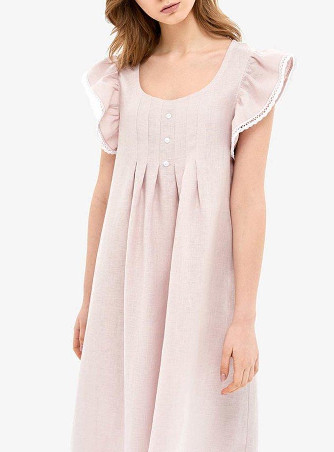 Льняное платье для дома MRND_Н2-2, фото 1 - в интернет магазине KAPSULA