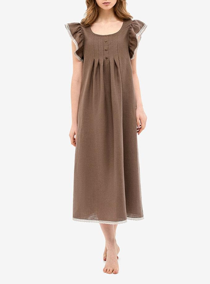 Льняное платье для дома MRND_Н2-3, фото 1 - в интеренет магазине KAPSULA