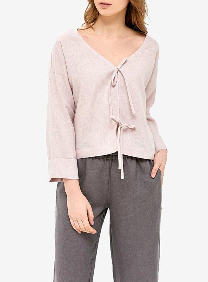 Льняная пижама MRND_Н3-2, фото 1 - в интеренет магазине KAPSULA