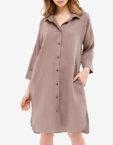 Льняное платье-рубашка для дома MRND_Н5-5, фото 6 - в интеренет магазине KAPSULA