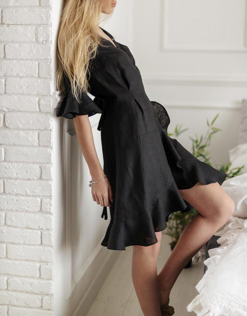 Льняной халат на запах MRND_Н6-5, фото 1 - в интеренет магазине KAPSULA