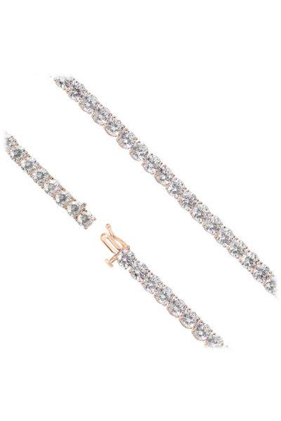 Серебряный браслет с камнями циркония NTKN_СJB1358W-2, фото 1 - в интеренет магазине KAPSULA
