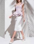 Платье миди с вставками из сетки KS_S-S-20-17, фото 2 - в интеренет магазине KAPSULA