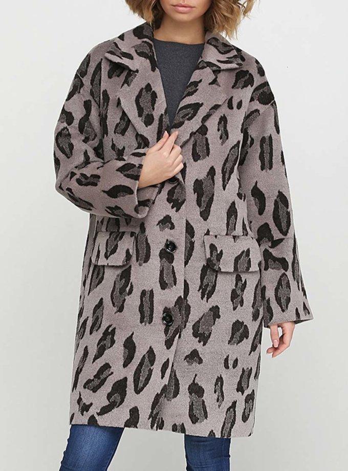 Пальто свободного силуэта в принт AY_2542, фото 1 - в интернет магазине KAPSULA