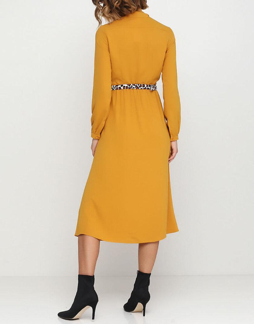 Платье с шалью бант А силуэта AY_2540, фото 1 - в интернет магазине KAPSULA