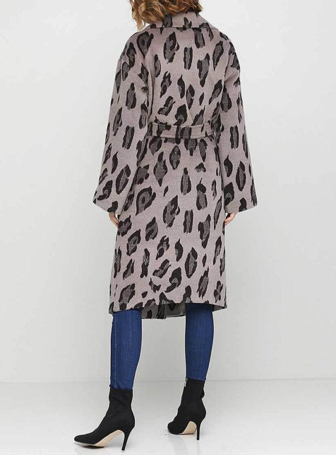 Пальто из шерсти в леопардовый принт AY_2558, фото 1 - в интернет магазине KAPSULA