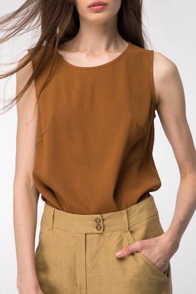 Легкая блуза прямого силуэта SHKO_13076078, фото 1 - в интеренет магазине KAPSULA