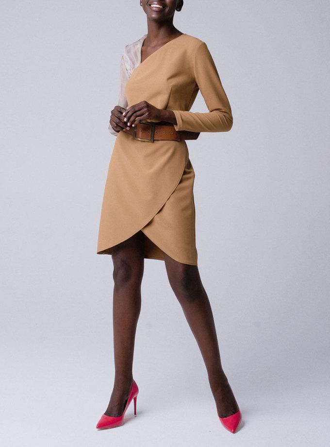 Платье на запахе с рукавом из органзы MNTK_MTDRS194001_outlet, фото 1 - в интеренет магазине KAPSULA
