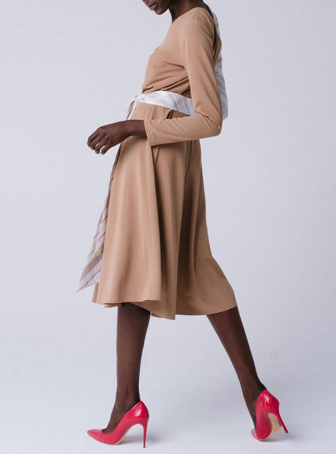 Платье с асимметричными рукавами из органзы MNTK_MTDRS195001, фото 1 - в интеренет магазине KAPSULA