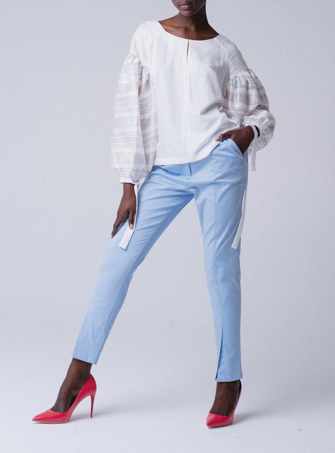 Зауженные брюки со шлицей MNTK_MTJS191003_outlet, фото 1 - в интернет магазине KAPSULA